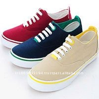 ssd0142 mans canvas color laceup sneakers