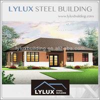 Pre constructed houses luxury pre panelized house villa building prefab metal house