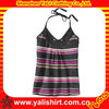 Unique new popular top selling fancy girl's striped tank tops