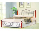 Metal Bed With Wood Post, Modern King Size Metal Bed, Cheap Metal Beds