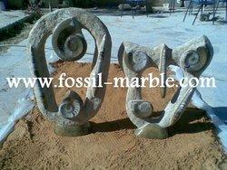 handicrafts ammonite fossil marble slab erfoud