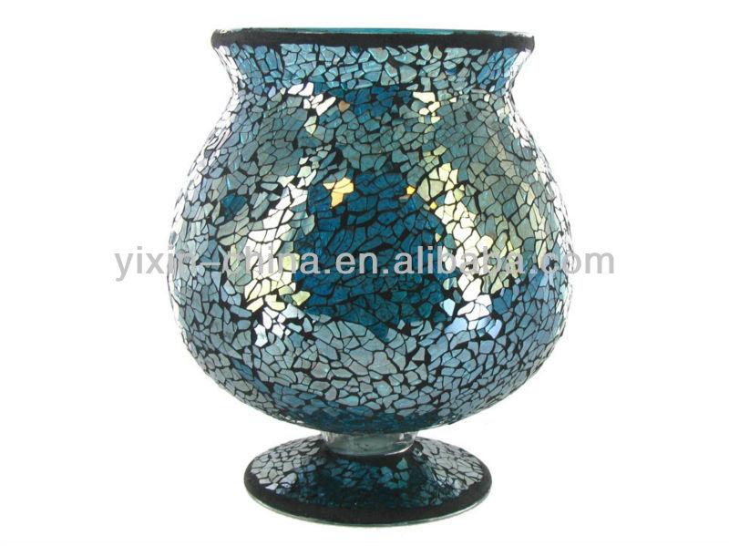 Mozaik cam mumluk el yapımı, düğün centerpieces