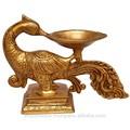 metal de bronze da estátua do pássaro lâmpada a óleo indiana figura