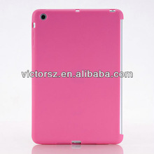 Clear Smart Cover Partner Case, Pink Slim TPU Back Cover For iPad Mini