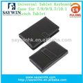 """Universal de alta qualidade de couro preto stand case com teclado para o google nexus 7 7"""" tablet"""