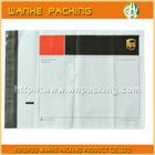 Printed plastic mailing bag with pocket back adhesive