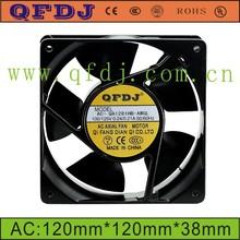 120_120_38mm Five blades cooling fan 110v