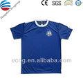 Hombres camisa deportiva, de hecho 100% de poliéster rápido- seco, con grabación y de transferencia de calor logotipo