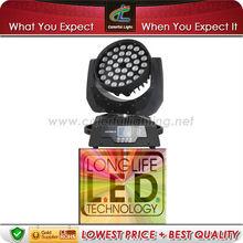 DMX 36pcs*10watt LED Wash Moving Head Zoom Dj Equipment LED Color Wash