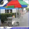 2014 móvel cachorro quente venda snack alimentos carrinho hs120b crepe máquina equipada