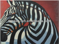 Handmade Abstract animal white and black Africa Zebra Oil painting on Canvas for kidsroom Decoration