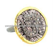 elmas serme 14k altın yüzük takı Om yüzük takı Om tasarımcısı yüzük takı yapımı moda