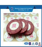 pokerchips with matt film