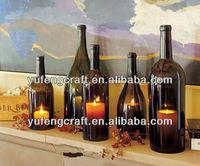 .Hurricane candle holder ,wine bottle candelabra