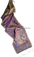 100% Silk Jacquard muffler scarf