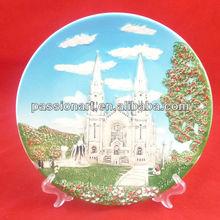 custom design keramik souvenir platte