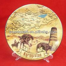 neue benutzerdefinierte souvenir abziehbild keramik platte