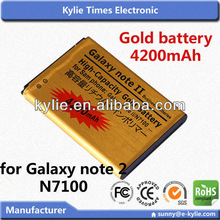 battery of mobile phone for Samsung Galaxy Note gold business battery