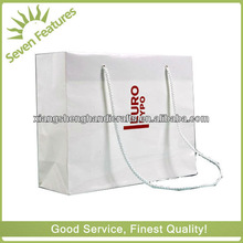 pure white kraft paper shopping bag upgraded pp cord handle