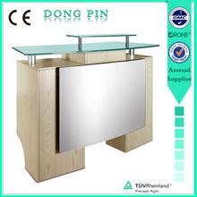 beauty salon reception desk glass reception furniture