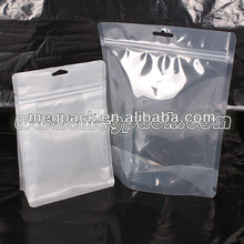 Clear Stand Up Plastic Resealable Zipper Bag