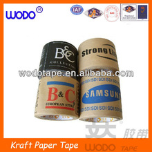 Custom printed wet water reinforced kraft paper tape for packing ,kraft paper tape