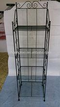 powder coated foldable display storage rack/stand