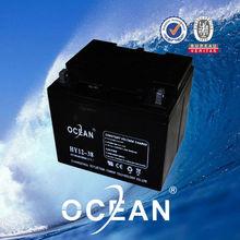 38ah 12v smart sealed maintenance free flooded deep cycle lead acid batteries for solar