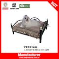 Luxo cão camas de ferro, ferro forjado pet bed