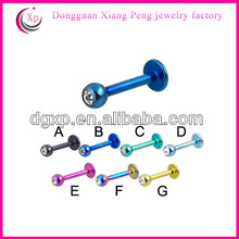 PVD plated colored new arrival lip rings fake industrial piercing jewelry