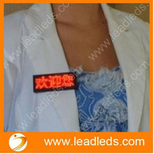 (Jingzhi manufacturer) Easy use USB programmable nurse badges led support all languages