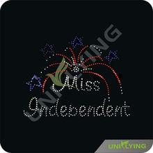 Celebrating independence fireworks flat back rhinestone motif