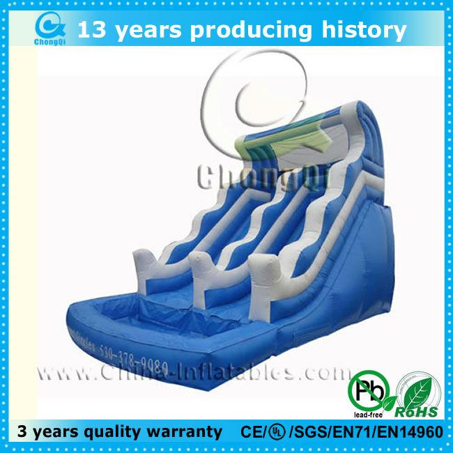durable inflatable water slide pool,inflatable pool water slide