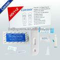 El vih elisa kit de prueba/kit de prueba rápida del vih 1/2( sangre entera)