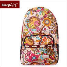 Printing large capacity women's backpack school supply