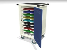 Mobile Cart for Storage and Charging of 10 Laptops/Netbook/Tablets