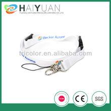 white sublimation printed phone string holder lanyard