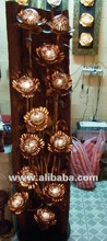 Hand Craft Lamp with teak ,made coconut shell *Unique Product