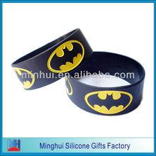 Batman Logo Engraved Wrist Bands Fashion Silicone Wristbands Accessory