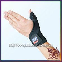 Highloong Hi-quality One Finger Snap Black Neoprene Wrist Support