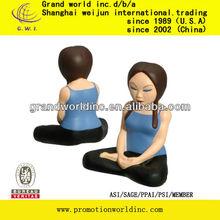 Yoga girl shape stress ball made in China