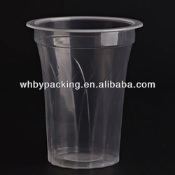clear plastic disposable beverage cups