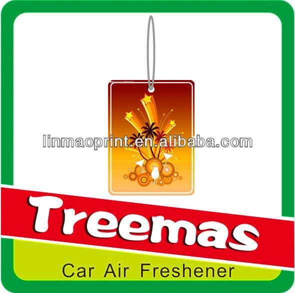 Paper air freshener/palm tree logo/air freshener for tree logo
