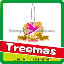 Hanging paper car air freshener/air freshener air wick