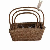 wholesale wicker and hemp lined basket