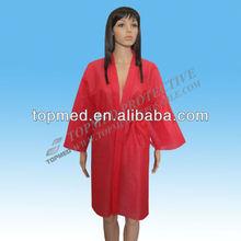 Jetables non tissés kimono spa vêtements blouse chirurgicale non tissé kimono
