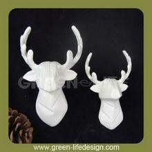 White porcelain deers head ornament