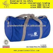 polyester duffel tote bag with adjustable shoulder strap for travel