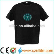original design 2015 alibaba express el t shirt iron man led t-shirt