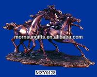 SET 2 RUNNING HORSE BRONZE SCULPTURE WHOLESALE